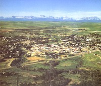 Town of Cardston Aerial View